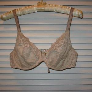 Chantelle Lace Bra 34D Nude